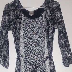 Mid length 3/4 sleeve dress